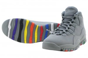 NIKE AIR JORDAN 10 RETRO - Cool Grey/Cool Grey-white