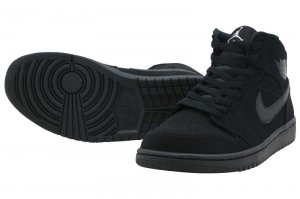 NIKE AIR JORDAN 1 MID - BLACK/WHITE-BLACK