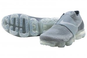 NIKE AIR VAPORMAX FLYKNIT MOC - COOL GREY/WOLF GREY-HOT PUNCH