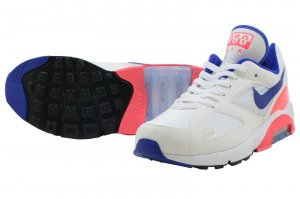 NIKE AIR MAX 180 - WHITE/ULTRAMARINE-SOLAR RED