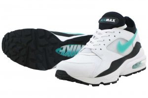 NIKE AIR MAX 93 - White/Sport Turquoise-Black