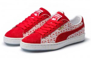 PUMA SUEDE CLASSIC X HELLO KITTY - Bright Red-Bright Red