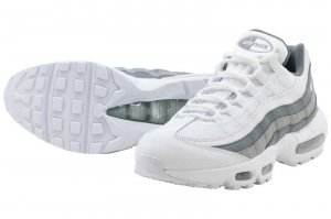 NIKE AIR MAX 95 ESSENTIAL - WHITE/WHITE-COOL GREY-WOLF GREY