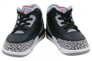 NIKE AIR JORDAN 3 RETRO BT - Black/Fire Red-Cement Grey