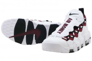 NIKE AIR MORE MONEY - WHITE/BLACK-TEAM RED