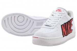 NIKE W AF1 UPSTEP LX - WHITE/WHITE-BLACK-HABANERO RED