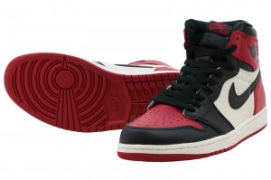 NIKE AIR JORDAN 1 RETRO HIGH OG - GYM RED/BLACK-SUMMIT WHITE