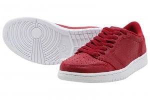 NIKE WMNS AIR JORDAN 1 RETRO LOW NS - GYM RED/MTLC GOLD-WHITE
