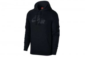 NIKE CLUB AF1 FLEECE HOODIE - BLACK/BLACK
