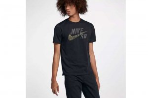 NIKE SB DRI-FIT COTTON CAMO T-SH - BLACK