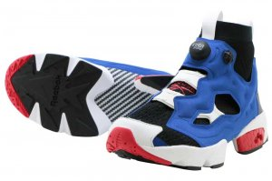 Reebok INSTAPUMP FURY OG ULTK - BLACK/TEAM DARK ROYAL/PRIMAL RED