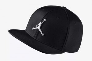 NIKE JORDAN JUMPMAN SNAPBACK CAP - BLACK/WHITE