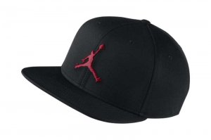 NIKE JORDAN JUMPMAN SNAPBACK CAP - BLACK/GYM RED