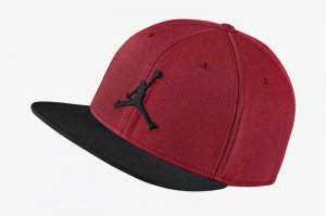NIKE JORDAN JUMPMAN SNAPBACK CAP - GYM RED/BLACK