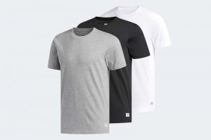 adidas  3 PACK TEES - GREY/WHITE/BLACK