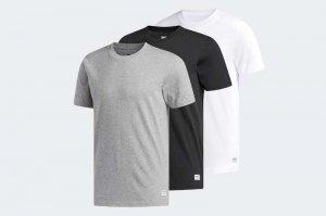 adidas  3 PACK TEES - GREY/WHITE/BLACK CW2344