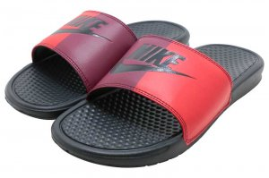 NIKE BENASSI JDI - ANTHRACITE-UNIVERSITY RED