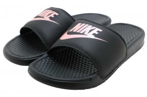 NIKE WMNS BENASSI JDI - BLACK/ROSE GOLD