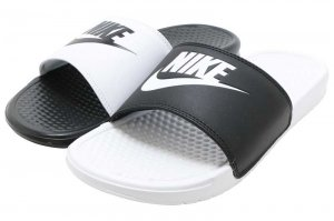 NIKE BENASSI JDI MISMATCH - BLACK/WHITE