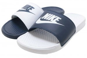 NIKE BENASSI JDI MISMATCH - MIDNIGHT NAVY/WHITE