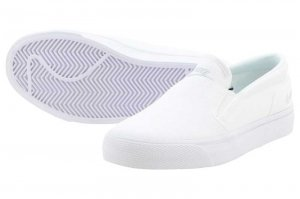 NIKE WMNS TOKI SLIP CANVAS - WHITE/METALLIC PLATINUM