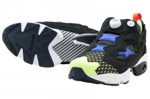 Reebok INSTAPUMP FURY OG SR - BLACK/WHITE/ACID BLUE