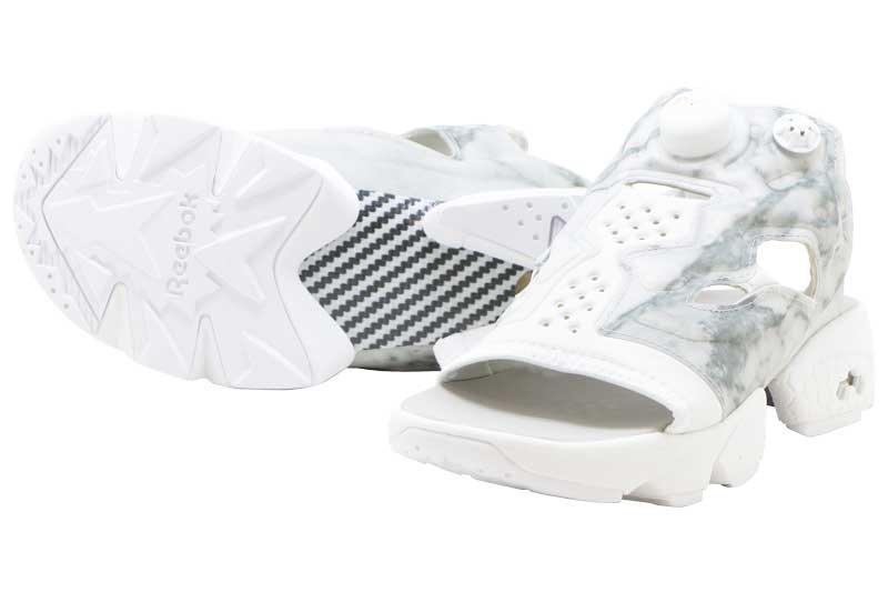 620cd64bb908f7 Reebok INSTAPUMP FURY SANDAL - STEEL WHITE WHITE v69440