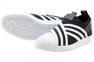 adidas  SUPERSTAR SLIPON W - Core Black/Core Black/Running White
