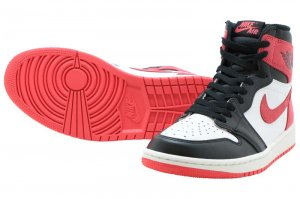 NIKE AIR JORDAN 1 RETRO HIGH OG - SUMMIT WHITE/TRACK RED-BLACK