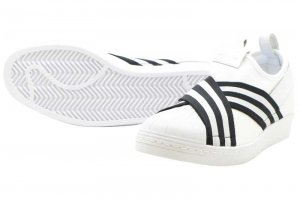 adidas  SUPERSTAR SLIPON W - Running White/Running White/Core Black