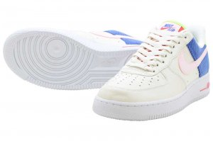 NIKE W AIR FORCE 1 LO - SAIL/ARCTIC PINK-RACER BLUE