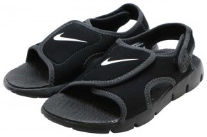 NIKE SUNRAY ADJUST 4 GS/PS - BLACK/WHITE-ANTHRACITE
