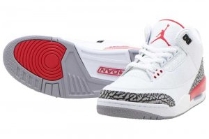 NIKE AIR JORDAN 3 RETRO - WHITE/FIRE RED-CEMENT GREY