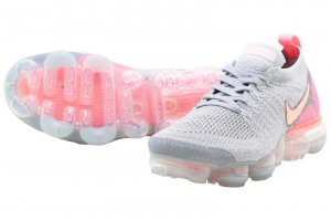 NIKE W AIR VAPORMAX FLYKNIT 2 - ATMOSPHERE GREY/CRIMSON PULSE