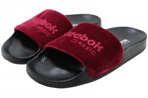 Reebok CLASSIC SLIDE - COLLEGE BURGANDY/RED/BLACK/WHITE