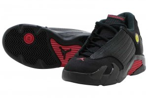 NIKE AIR JORDAN 14 RETRO BP - BLACK/VERSITY RED