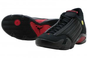 NIKE AIR JORDAN 14 RETRO - BLACK/VERSITY RED-BLACK