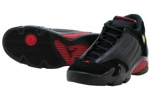 NIKE AIR JORDAN 14 RETRO BG - BLACK/VERSITY RED-BLACK
