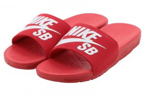 NIKE SB BENASSI SOLARSOFT - UNIVERSITY RED/WHITE
