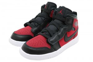 NIKE JORDAN 1 MID ALT (PS) - GYM RED/BLACK-WHITE