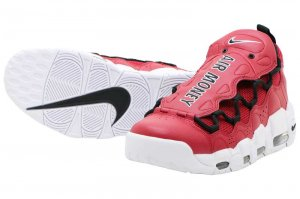 NIKE AIR MORE MONEY - GYM RED/BLACK-WHITE
