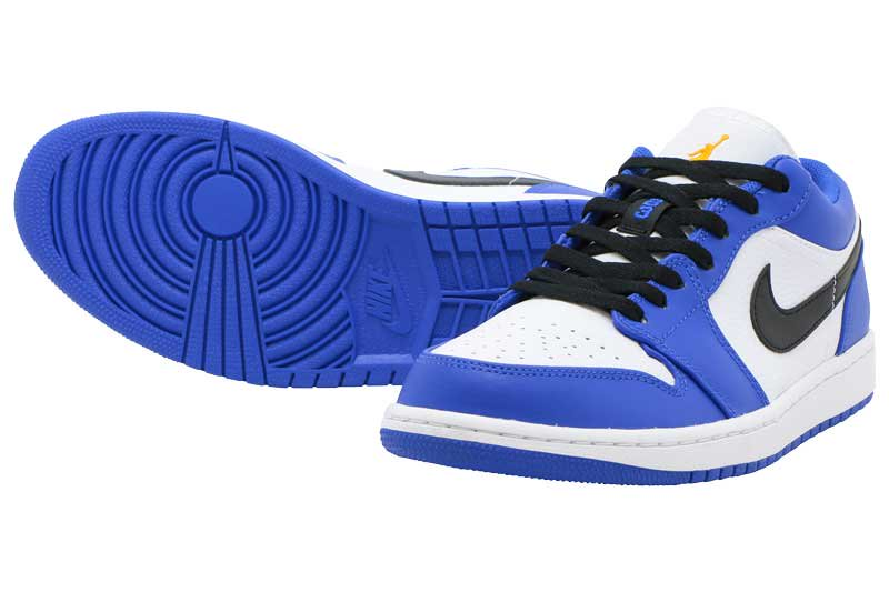 a5adec66dba999 NIKE AIR JORDAN 1 LOW - HYPER ROYAL ORANGE PEEL-WHITE 553558-401