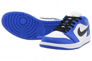 NIKE AIR JORDAN 1 LOW - HYPER ROYAL/ORANGE PEEL-WHITE