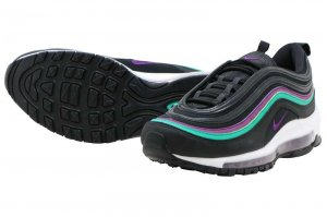 NIKE W AIR MAX 97 - BLACK/BLIGHT GRAPE-CLEAR EMERALD