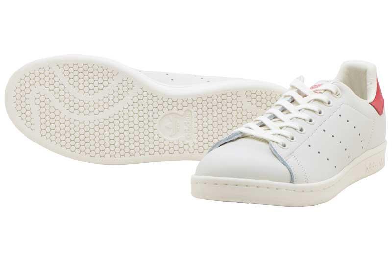 adidas STAN SMITH - Chalk White Chalk White Scarlet b37898 db47d2d84