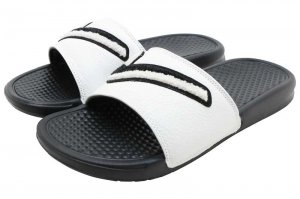 NIKE BENASSI JDI CHENILLE - BLACK/SUMMIT WHITE