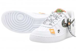 NIKE AIR FORCE 1 07 PRM JDI - WHITE/WHITE-BLACK-TOTAL ORANGE