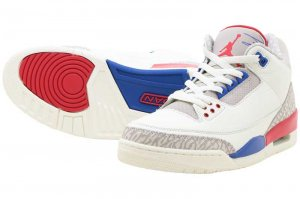 NIKE AIR JORDAN 3 RETRO - SAIL/SPORT ROYAL-LIGHT BONE