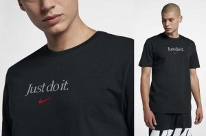 NIKE AS M NSW TEE TABLE HBR 25 - BLACK/UNIVERSITY RED