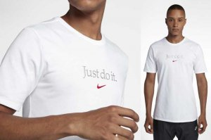 NIKE AS M NSW TEE TABLE HBR 25 - WHITE/UNIVERSITY RED